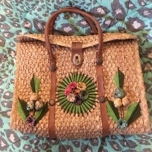VTG Acapulco wicker purse